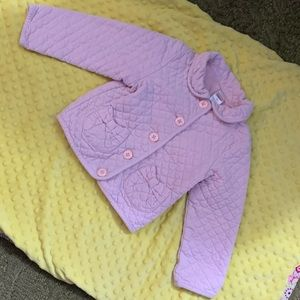 Size 4 Gymboree Light pink quilted jacket